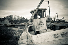 Hauled up and abandoned (2) Stock Images