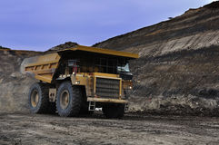 Hauling material overburden to disposal area royalty free stock photography