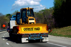 Hauling an Oversize Load Royalty Free Stock Images