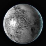 Haumea dwergdieplaneet op zwarte achtergrond wordt geïsoleerd Waterverf, 3D illustratie vector illustratie
