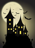 Haunted Castle. On halloween nightfall vector illustration