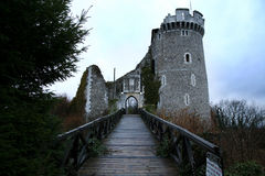 Haunted castle in France stock photo