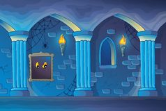 Haunted castle interior theme 1 Royalty Free Stock Image