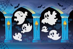 Haunted castle interior theme 8 Royalty Free Stock Images