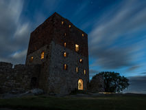 Haunted castle ruin Hammershus in denmark Royalty Free Stock Image