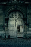 Haunted door. Old door with ghostly haunted effects royalty free stock photos