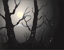 Haunted Forest vector illustration