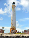 The haunted Great Isaac Cay Lighthouse. In the Bahamas Stock Images