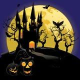 Haunted Halloween Castle Stock Image