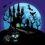 Haunted Halloween Castle Royalty Free Stock Images