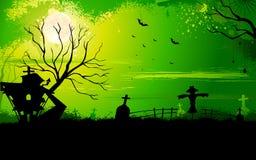 Haunted Halloween House Stock Photo