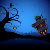 Haunted Halloween House Stock Photography