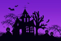 Haunted halloween house Royalty Free Stock Photo