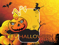 Haunted halloween pumpkin vector Royalty Free Stock Photography