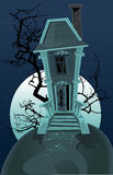 Haunted Halloween witch house Stock Image