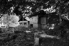 Haunted House. The haunted malay house serounded by tomb in the deep jungle Stock Photos