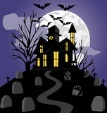 Haunted house. Spooky haunted house. Vector illustration Stock Photography