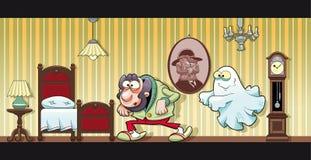 Haunted house. Funny cartoon and illustration royalty free illustration