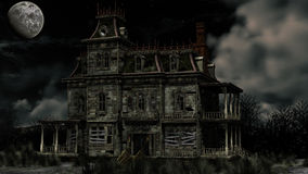 Haunted house. 3d render of Haunted house Stock Photography