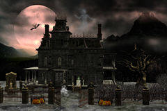 Haunted house 2. 3d render of Haunted house 2 Stock Image