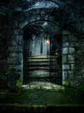 Haunted house. Illustration of a dark haunted old house Royalty Free Stock Photo