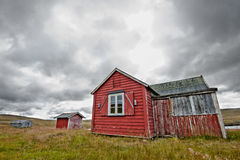 Haunted house. A worn down cabin in the norwegian national park Hardangervidda Stock Image