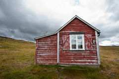 Haunted house. A worn down cabin in the norwegian national park Hardangervidda Stock Images