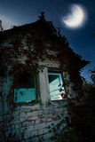 Haunted house. Image of Haunted house - good background for halloween cards royalty free stock images
