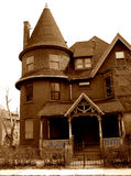 Haunted House. Old Victorian house long abandoned to the ghosts Royalty Free Stock Image