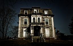 Haunted House. An old abondoned mansion in bad condition Royalty Free Stock Photography