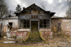 Haunted house. Old haunted house in Transylvania