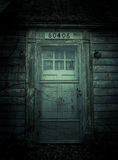 Haunted House. Abandoned door on haunted house royalty free stock images
