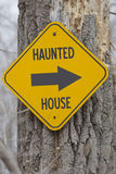 Haunted House Arrow Sign Stock Photography