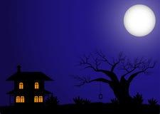 Haunted house halloween Stock Photo