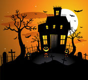 Haunted house halloween background Royalty Free Stock Image