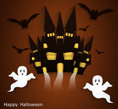 Haunted House. Halloween background. Stock Photos