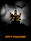 Haunted house Halloween background Stock Photo