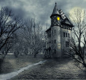 Haunted house. Halloween design with haunted house