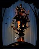Haunted house on Halloween night Royalty Free Stock Image
