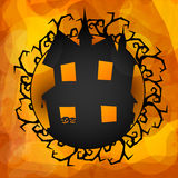 Haunted house for Halloween Night Party. Royalty Free Stock Photo