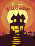 Haunted house for Halloween Party celebration. Stock Photos