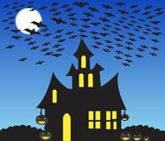 Haunted house halloween scene Royalty Free Stock Photography