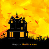 Haunted house for Happy Halloween Party. Stock Photo