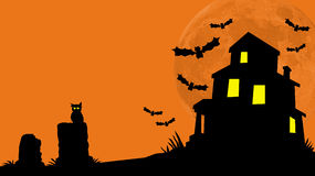 Haunted House Hill royalty free stock image