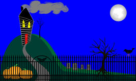 Haunted House on Hill Stock Photography