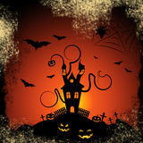 Haunted House Indicates Trick Or Treat And Autumn Stock Images
