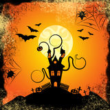 Haunted House Indicates Trick Or Treat And Bats Stock Photography