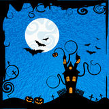 Haunted House Means Trick Or Treat And Astronomy Royalty Free Stock Images