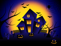 Haunted House Means Trick Or Treat And Autumn Stock Photography