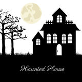 Haunted house. Over terrifying landscape background vector illustration Royalty Free Stock Photography